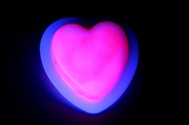 Lightstick srdce 60 mm růžové