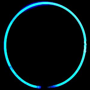 Lightstick náhrdelník 550 x 6 mm modrý