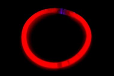 Lightstick náramek 5 x 200 mm červený - 100 ks