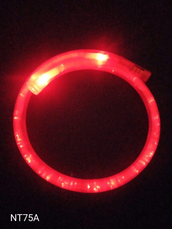Blikací náhrdelník bublinkový červený
