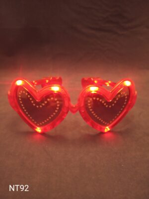 Blikací brýle - srdce červené