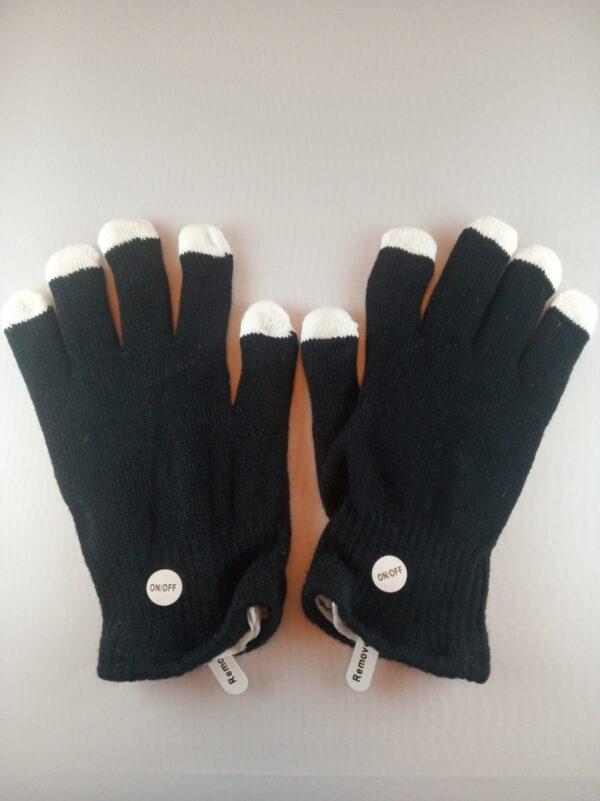 Blikající rukavice černé