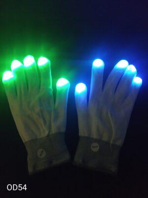 Blikající rukavice bílé