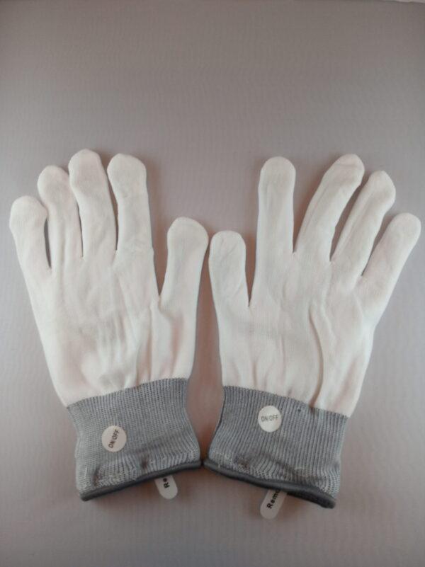 Blikající rukavice bílé - 6 barev
