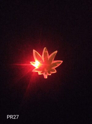 Blikací odznak marihuana