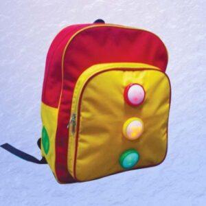 Blikající školní batoh