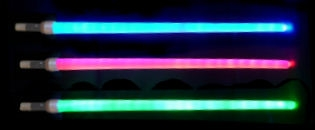 Svítící teleskopický meč 1000 mm zelený