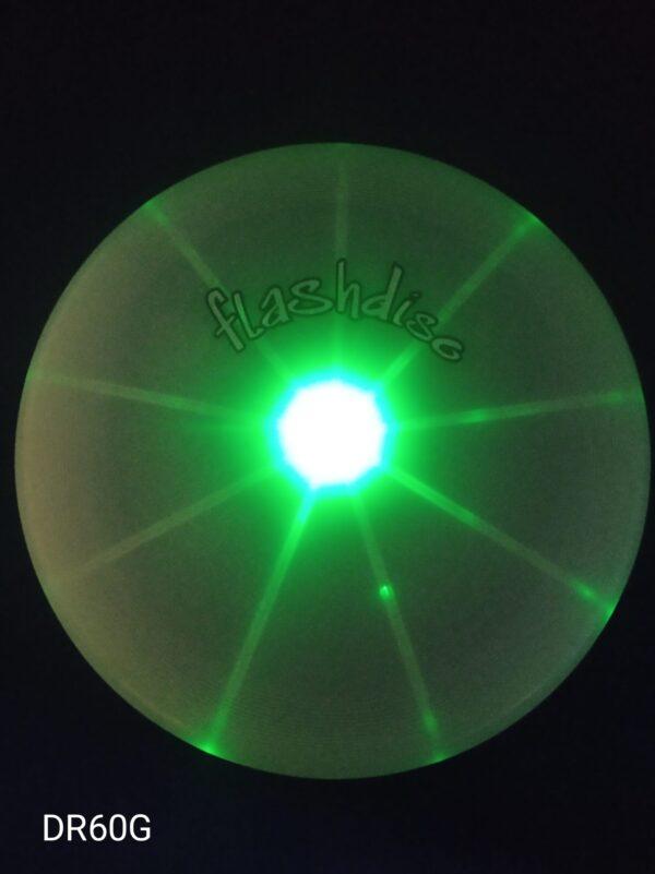 Frisbee svítící zelené
