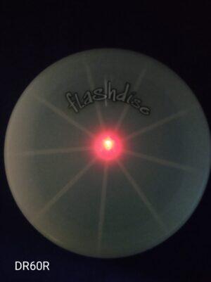 Frisbee svítící červené