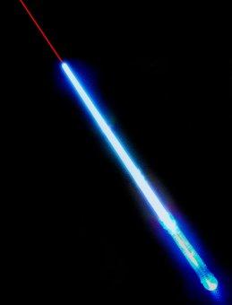 Meč Star Wars modrý s laserem