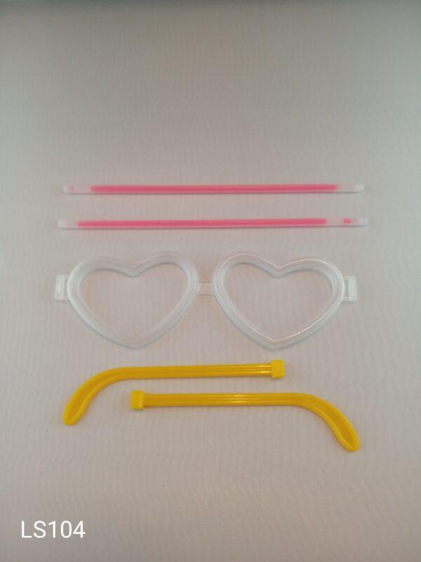 Lightstick brýle srdce růžové