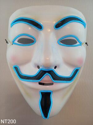 Anonymous svítící maska modrá
