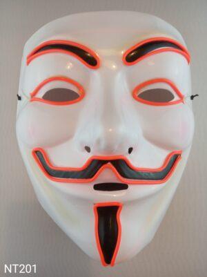 Anonymous svítící maska červená