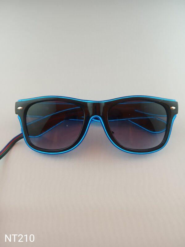 Svítící EL brýle - modré, efekt běžící světlo