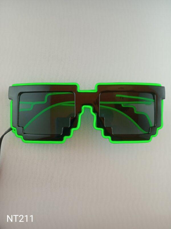 Svítící EL brýle - Tetris zelené