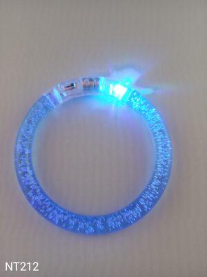 Svítící náramek bublinkový modrý