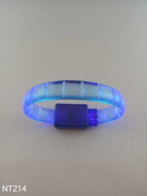 Svítící náramek kostičkový modrý