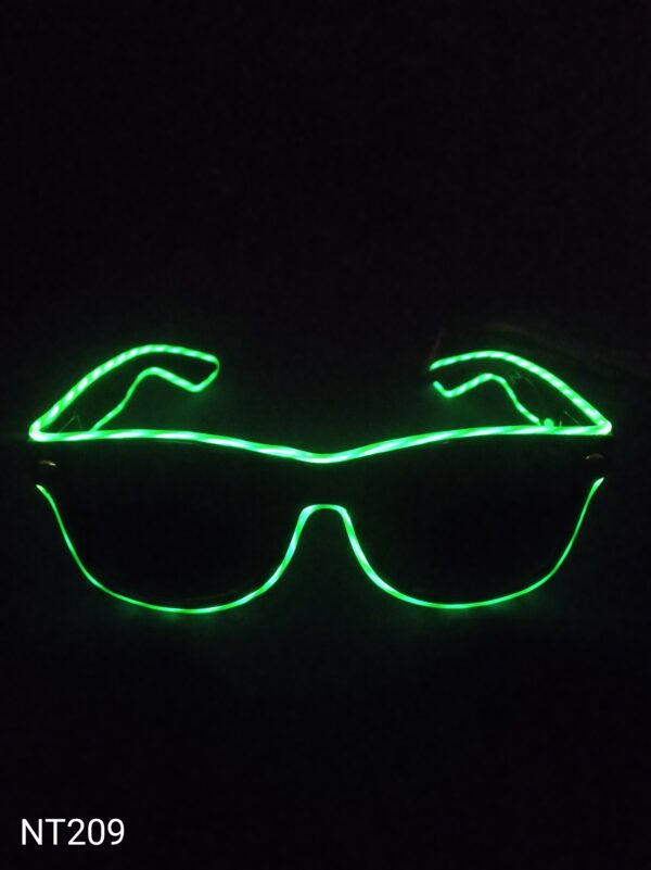Svítící EL brýle - zelené, efekt běžící světlo