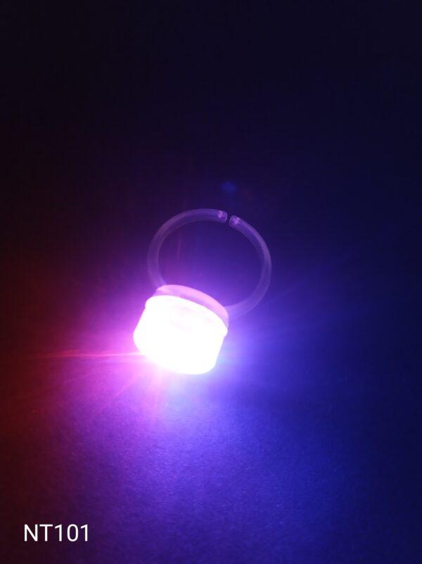 Blikací prsten červeno - modrý