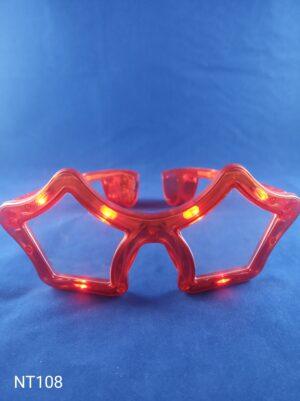 Star blikací brýle červené