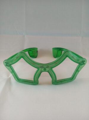 Star blikací brýle zelené
