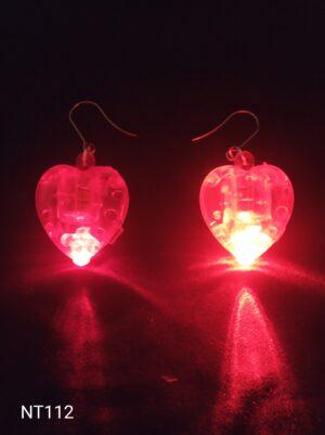 Srdíčko svítící náušnice