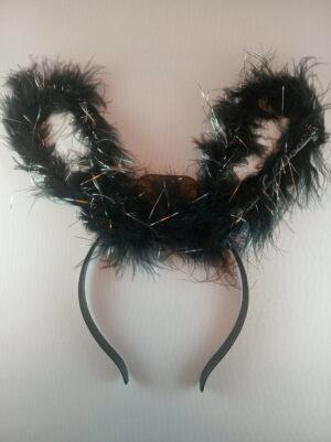 Zajíček čelenka černá