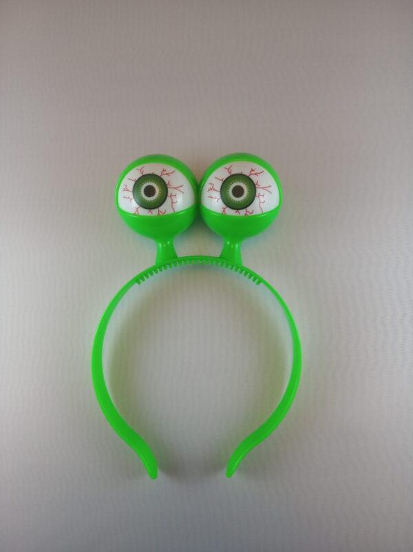 Oči blikací čelenka - barevný mix - zelená