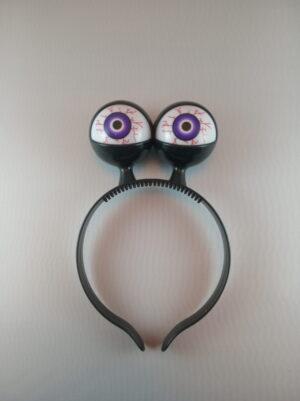 Oči blikací čelenka – barevný mix - černá