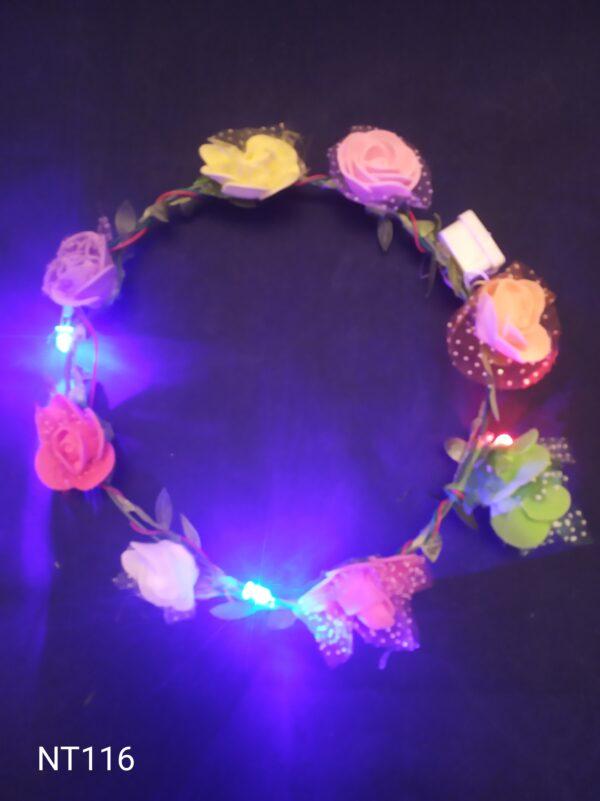 Květinový věneček blikací