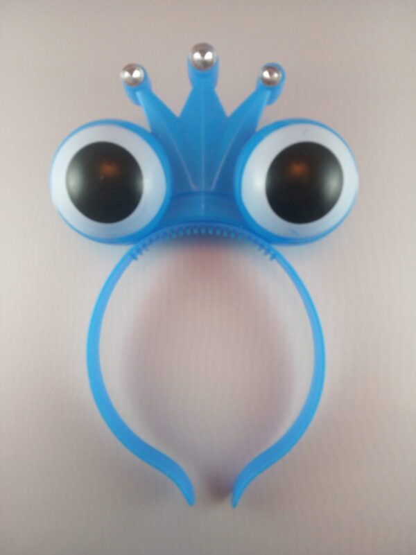 Oči - korunka blikací čelenka modrá