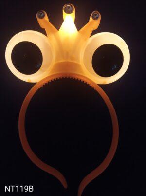 Oči - korunka blikací čelenka oranžová