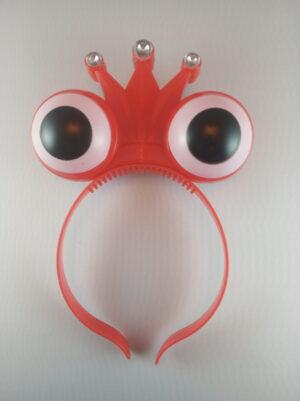 Oči - korunka blikací čelenka červená