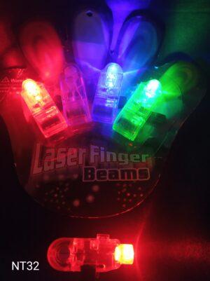 LED svítící prstýnky - sada 4 ks