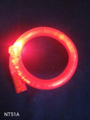 Blikací náramek bublinkový červený