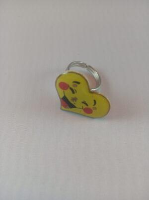Blikací prsten srdce smile