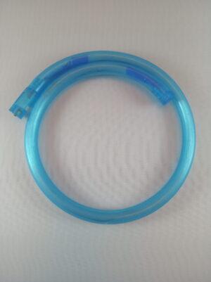 Blikací náhrdelník bublinkový modrý