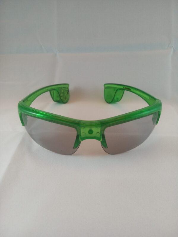 Blikací sluneční brýle zelené - New style
