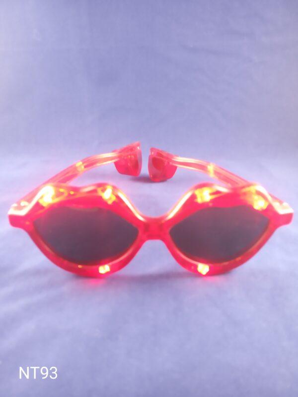 Blikací brýle pusinka - červené