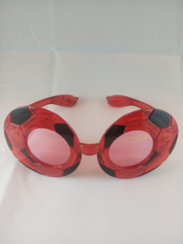 Blikací brýle styl fotbal červené