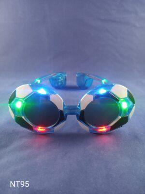 Blikací brýle styl fotbal modré