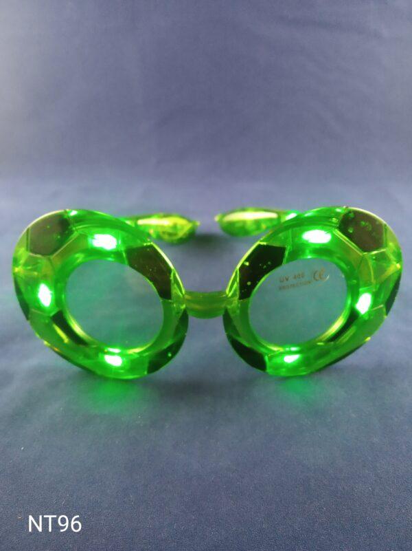 Blikací brýle styl fotbal zelené