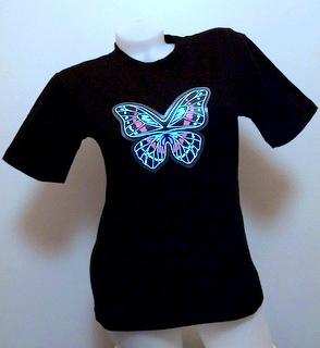 Svítící triko motýl - dámské (L)