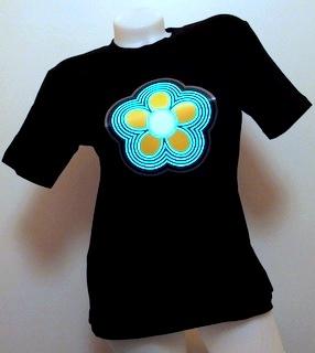 Svítící triko kytka - dámské (L)