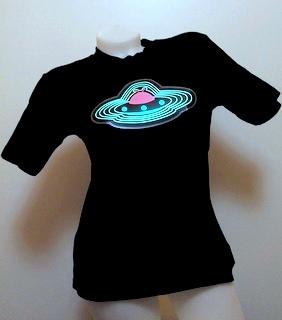 Svítící triko UFO - pánské (XL)