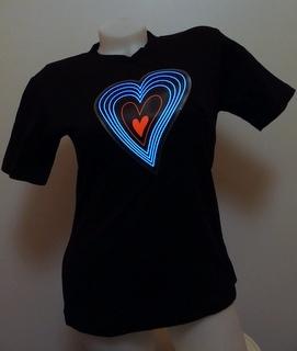Svítící triko srdce - dámské (L)