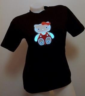 Svítící triko kotě - dámské (L)
