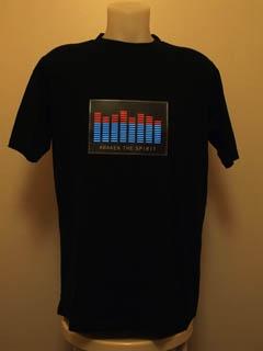 Svítící triko equalizer - pánské (XL)