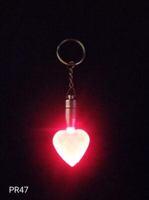 Blíkací klíčenka srdce